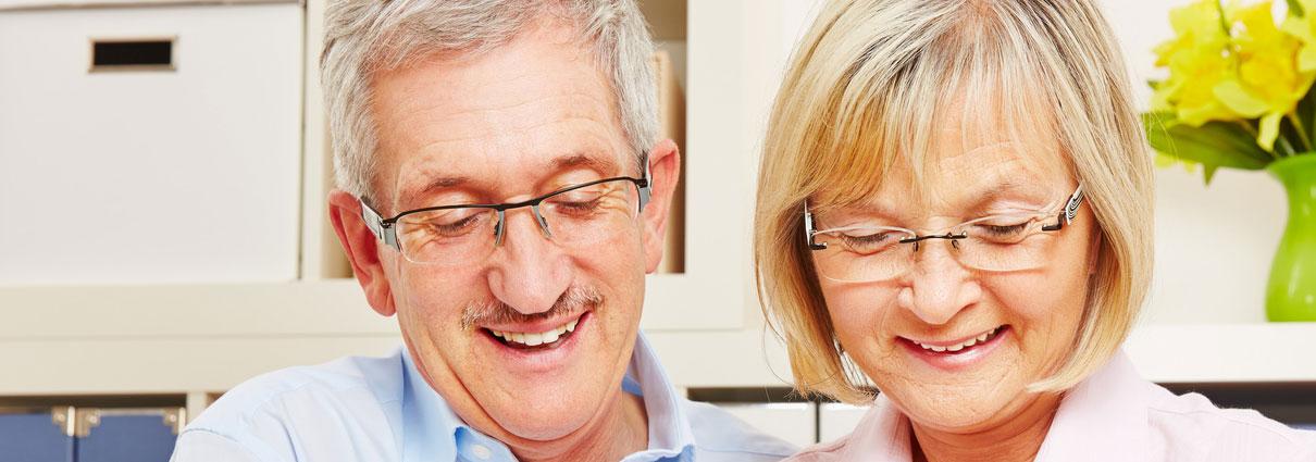 Gutes Sehen mit einer Gleitscihtbrille