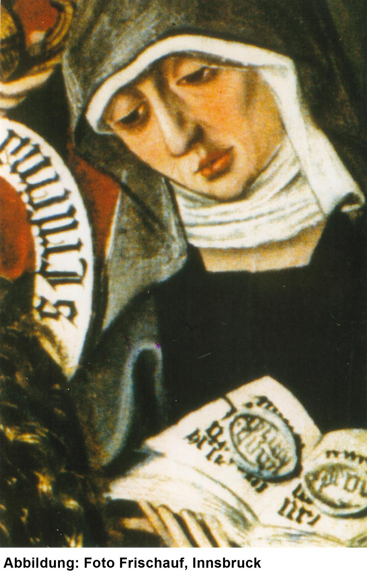 Die hl. Ottilie mit Lesesteinen