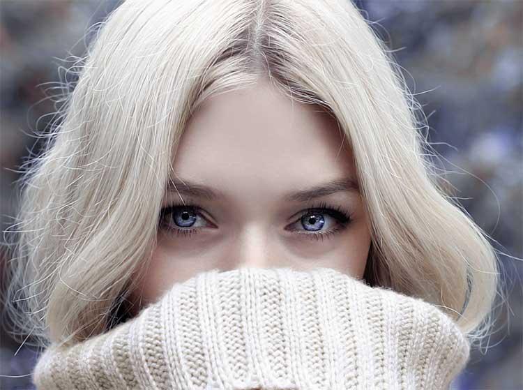 Trockene Augen im Winter
